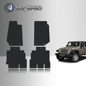 Toughpro Floor Mats Black For Jeep Wrangler Unlimited All Weather 2014 2017