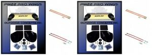 2 Snow Plow Pro wing Blade Extensions Pair Of 27 36 Blade Markers Kits