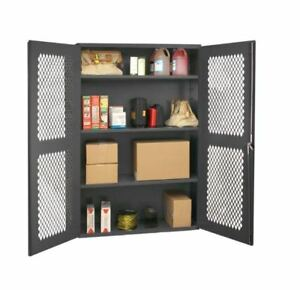 See Through Cabinets With Expanded Metal Doors Hemdc 362472