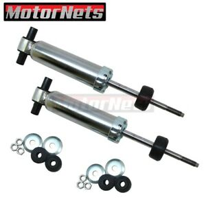 Pair Mustang Ii 2 Front Shock Struts Chrome Oil Filled Hot Street Rod Rat 13