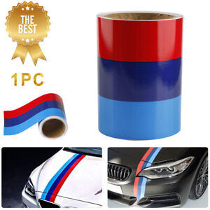5ft M Colored Stripe Sticker Car Vinyl Decal For Bmw M3 M4 M5 M6 3 5 6 7 Series