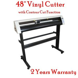 48 Vinyl Sign Cutter Contour Cut Function Sign Stickers Cutter Plotter Machine