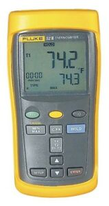 Fluke 52 2 60hz Thermocouple Thermometer With Dual Inputs