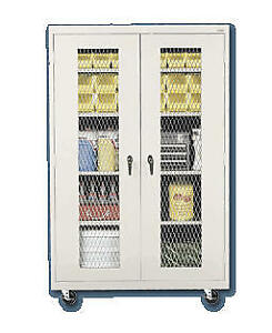 Expanded Metal Front Mobile Storage Cabinets Mc1 462472