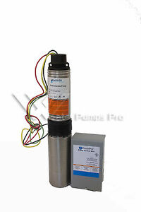 18hs10412c Goulds 18gpm 1hp 4 Submersible Water Well Pump Motor 3 Wire 230v