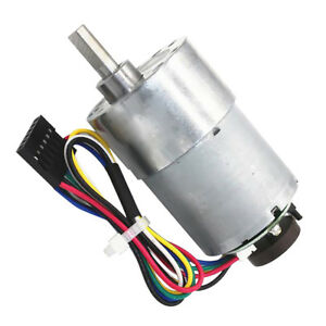 Dc Encoder Reducer Geared Motor High Torque 24v With Code Disc 111rpm