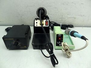 Lot Of 3 Temp Controlled Soldering Stations Weller Wcc100 Edsyn 951s Hakko 936