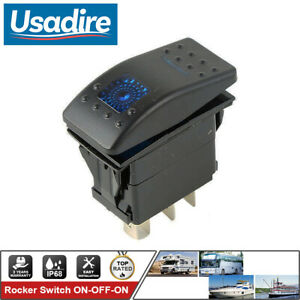 On Off On 7 Pin Dpdt Marine Boat Rocker Switch 12v 20a 24v 10a Truck Car Rv Us