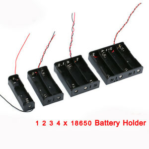 3 7v 18650 Battery Holder Box Case 1 2 3 4 X 18650 Battery Holder With Wire
