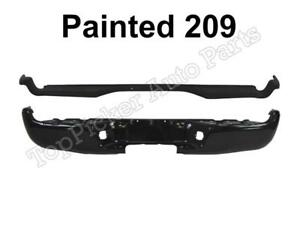 Painted 209 Black Rear Bumper Face Bar Top Side Pad For 2005 2015 Toyota Tacoma