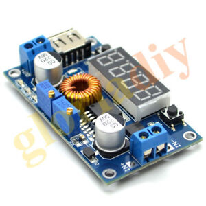 5pcs 5a Led Drive Lithium Battery Charger With Voltmeter Ammeter Dc Dc Module
