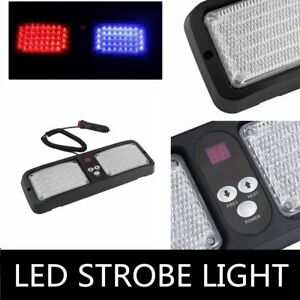 Led Light Bar Lamp Emergency Warning Strobe Flashing Car Sun Visor Sunshield Ma