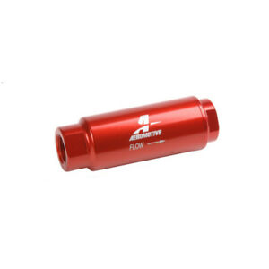 Aeromotive Fuel Filter 12316 All Fuels 100 Microns Red Anodized Stainless Mesh