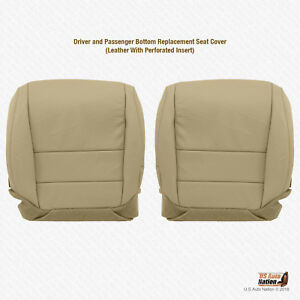 For 2004 2005 Acura Tl Driver Passenger Bottom Perforated Leather Seat Cover Tan