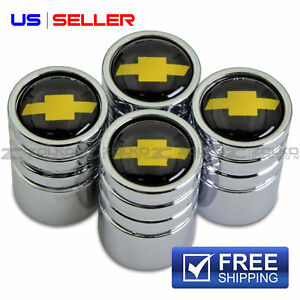 Valve Stem Caps Wheel Tire Chrome For Chevy Chevrolet Ve08 Us Seller