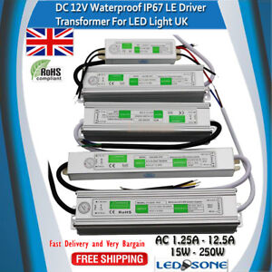 Ip67 Waterproof Led Driver Power Supply Transformer Ac240v dc12v Power Converter