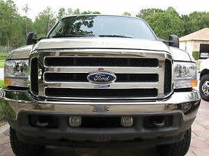 2005 Ford Chrome Grille Conversion Fits 2000 04 F 250 F 350 up To 04 Excursion