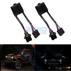 Anti Flicker Harness 7 Dragon Headlight Adaptor For Wrangler Jk Hummer H2 H3