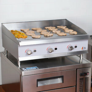 36 Gas Commercial Restaurant Kitchen Countertop Griddle With Manual Controls
