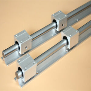 2set Linear Slide Sbr20 500mm Rail Shaft 4pcs Sbr20uu Bearing Block Cnc