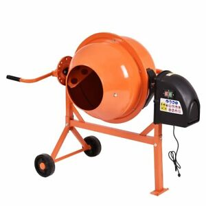 Electric Cement Mixer 2 2 Cubic Ft Concrete Stucco Mortar Feed Machine Portable