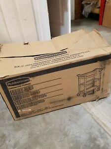 Rubbermaid 342488bla Service Cart 34 X 19 X 38 Black
