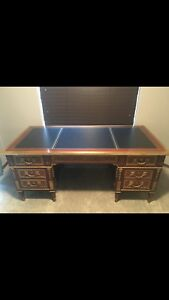 A French Ormolu Mounted Mahogany Bureau Plat Desk