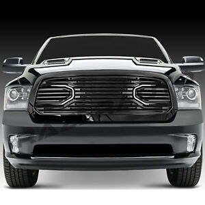13 17 Dodge Ram 1500 Big Horn Gloss Black Packaged Grille replacement Shell