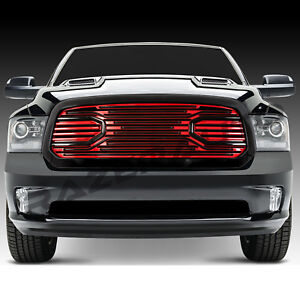 13 17 Dodge Ram 1500 Limited Edition Big Horn Black red Packaged Grille shell
