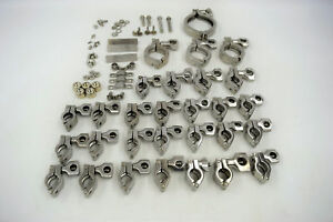 lot Of 29 Heavy Duty Sanitary Tri Clamp 304 Stainless Steel 75 To 3 I d