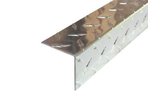 Aluminum Diamond Plate Angle 062 X 2 X 2 X 48 In Uaac 3003 2pcs