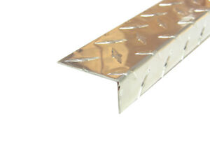 Aluminum Diamond Plate Angle 062 X 1 X 2 X 48 In 3003 Uaac 3pcs