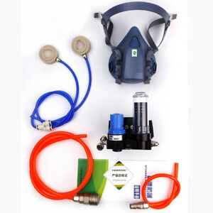 Paint Spraying Supplied Air Fed Respirator System 7502 Half Face Gas Mask