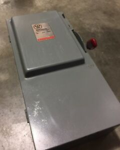 New Westinghouse 3 Pole 100 Amp 600 Volt Non Fusible Disconnect Switch Hu363