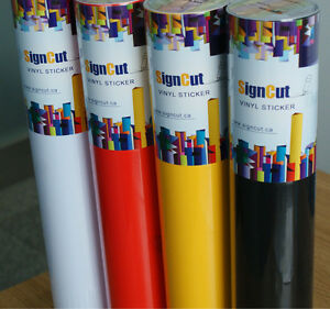6 Rolls Adhesive Multicolor Vinyl Sticker Roll For Plotter Sign Decal 45cm X 10m