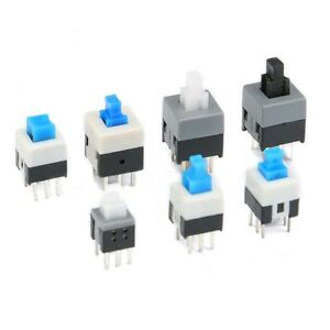 Mini Self locking non self locking Square Push Button Switch 6 Pin 5 8mm 8 5mm