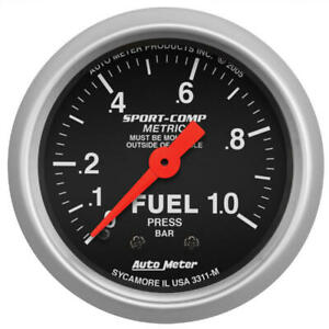 Auto Meter Fuel Pressure Gauge 3311 m Sport comp 0 1 0 Bar 2 1 16 Full Sweep
