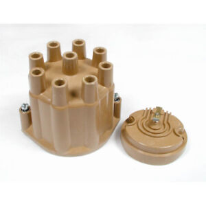 Alc Distributor Cap And Rotor Kit 8120 Points Socket Tan For 57 74 Chevy Gm