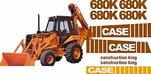 Case 680k Loader Backhoe Construction King Decals Sticker Set 680