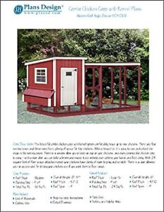 Chicken Coop With Kennel Combo Hen House And Run Plans Design 50410lm
