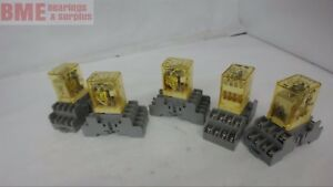 Lot Of 5 idec Rm2s Ice Cube Relay 5 Amp 120 Vac 24 Vdc Coil