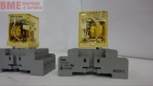 Lot Of 4 idec Rm2s Ice Cube Relay 5 Amp 120 Vac 24 Vdc Coil