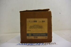 9998gg6 9998 Gg 6 Square D Parts Kit For 8501 G Relay 6 Pole New In Box