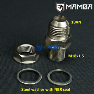 Mamba Turbo Oil Pan Oil Return Drain Plug Adapter Bung Fitting 10an No Weld