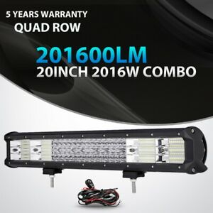 Quad Row 20 Inch 2016w Cree Led Light Bar Offroad 4x4wd For Jeep Ford Truck Atv