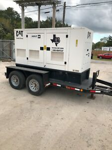 Caterpillar Xq60 60kw Portable Diesel Generator Set Low Hours Lb Tested