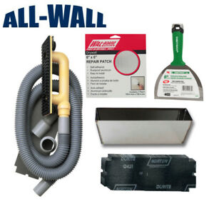 Drywall Repair Patch Kit W dust free Sander Patches Mud Pan Knife