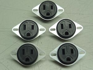 Lot Of 5 Amphenol Female Receptacle Sockets 125v 15a new