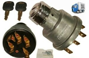 1632659 163 2659 Start Ignition Switch With 2 Keys Fits Cat 446b Caterpillar