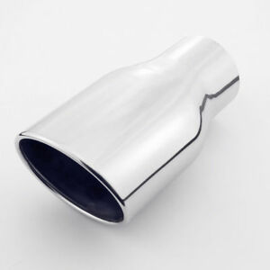 3 Inlet Exhaust Tip Rolled Slanted Angle Cut Oval 304 Stainless Steel